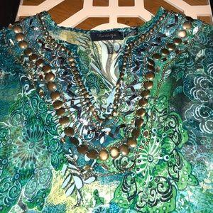 Jeweled Swim Cover-Up